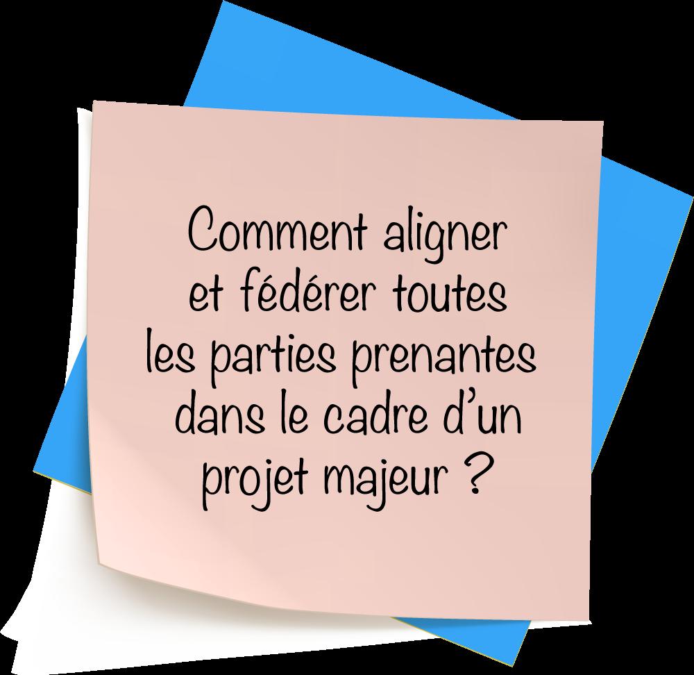 Comment aligner et fédérer toutes les parties prenantes dans le cadre d'un projet majeur ?